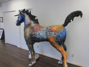 AfficheenTete Eyes on Walls Unicorn