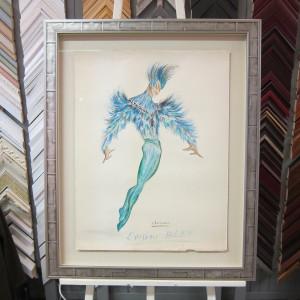 Affiche en Tete Oiseau Bleu