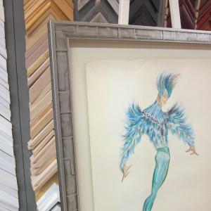 Affiche en Tete Oiseau Bleu detail 1
