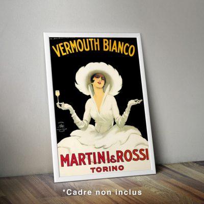 Affiche : Marcello Dudovich, Vermouth Bianco, Martini & Rossi Torino